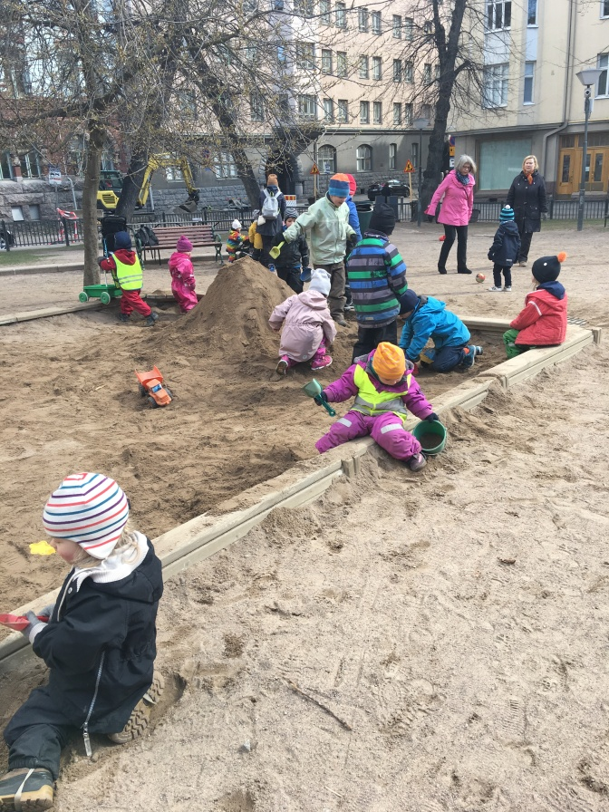 Children at play- even in the cold weather they are outside for hours